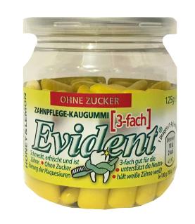Жевательная резинка в подушечках без сахара Evident лимон с медом, 125 г.