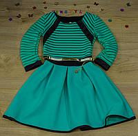 """Нарядное платье для девочки """"Бирюза"""""""