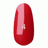 Гель-лак  Kodi 8 мл № 004 классический, темно-красный, эмаль