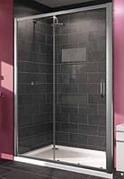 X1 дверь односекционная раздвижная для ниши и боковой стенки 120см (профиль гл хром, стекло прозрачное)