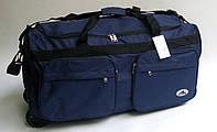 Дорожная - спортивная сумка на колесах Rhino - синяя, большая