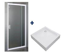 Дверь в нишу распашная 70~80*185 см + поддон 80*80*15