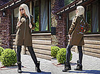 Женская куртка-Парка с нашивками