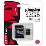 MicroSD HC 32Gb KINGSTON UHS-I Class10 (с переходником на полный SD / SDC10G2/32GB)