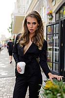 Женский стильный брючный костюм-кимано. Ткань: стрейч-коттон. Размер: см, мл. Цвет: черный, хаки.