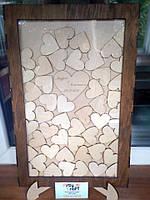 Рамка для пожеланий с сердечками (с гравировкой и покраской), фото 8