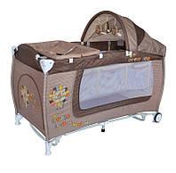 Манеж-кровать  DANNY 2 LAYERS ROCKER beige little leo