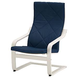 POANG Кресло, белый, Edum темно-синий
