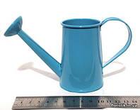 Лейка декоративная 15 х 9 см. голубая