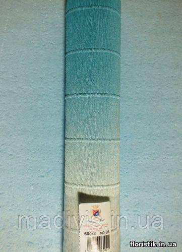 Папір гофрований з переходом, 600/2 блакитна з білим
