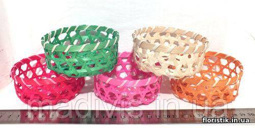 Миниатюрная декоративная корзинка из соломы, 5 цветов