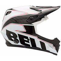 Шлем Bell Full-9 белый/черный карбон Emblem, L (57-59см)