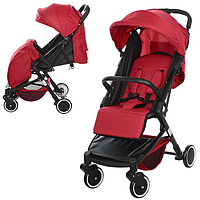 Детская прогулочная коляска M 3549-3 красная