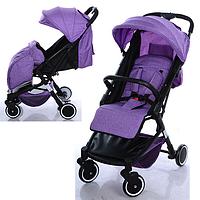 Детская прогулочная коляска M 3549-9 фиолетовая