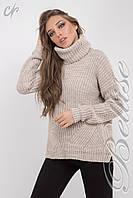 Женский удлиненный свитер свободного силуэта