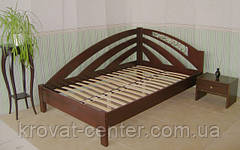 """Угловая деревянная кровать """"Радуга"""". Массив - сосна, ольха."""