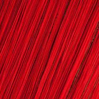 Шторы Нити, кисея, красный №17 алый