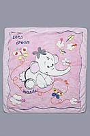 Мягкое детское одеяло из искусственной махры для девочки (плед 90*105 см, п/э) ТМ Модный карапуз Розовый 03-00320-0