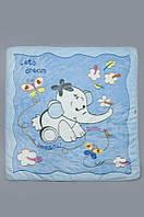 Мягкое детское одеяло из искусственной махры для мальчика (плед 90*105 см, п/э) ТМ Модный карапуз Голубой 03-00320-1
