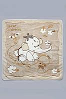 Мягкое одеяло из искусственной махры для мальчиков и девочек (плед 90*105 см, п/э) ТМ Модный карапуз Бежевый 03-00320-2