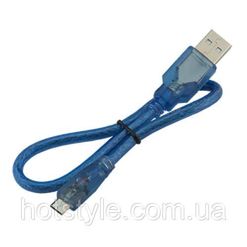 MicroUSB дата кабель для Arduino, телефона экранированный 50см