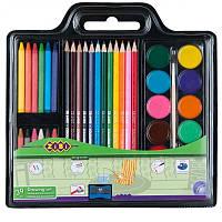 Набір для малювання Zibi 6400 (фарби, кол. та воск. олівці, пенз. натурал. та чинка)