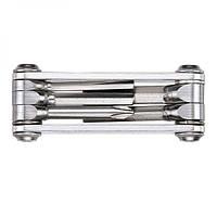 Мультитул LEZYNE SV - 5, серебристый, алюминиевые ручки, биты из нержавеющей стали