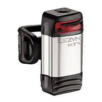Фонарик LEZYNE LED KTV DRIVE REAR, 1 режим свечения, 4 режим мигания, резиновый крепеж, серебристый
