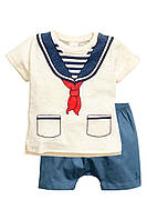 """Детский комплект для мальчика """"Морячок""""   12-18 месяцев, 1,5-2 года, фото 1"""