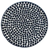 FLONG Ковер с коротким ворсом, белый, темно-синий