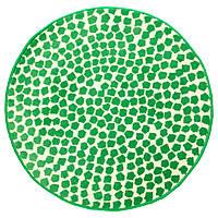 FLONG Ковер с коротким ворсом, белый, зеленый