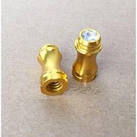 Колпачки на вентиль шины Fouriers PE004, Presta, алю 2.9г/пара, золото
