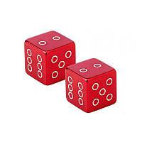 Колпачки на вентиль шины Fouriers US001 Cube/Кубик, Schrader, алю 18.7г/пара, красный