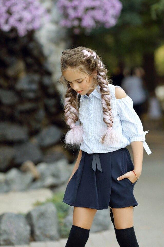 Юбка - шорты для девочки школьные.