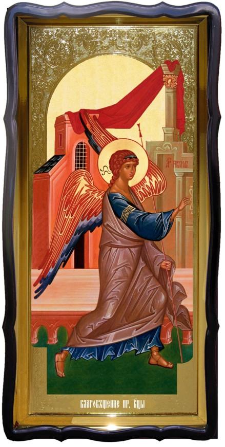 Икона для церкви ростовая Благовещение, врата 1
