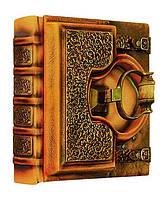 "Книга почетных гостей Книга почетных гостей натуральная кожа ""Замковая средняя "" 27 х 27х 9  см Foliant (EG486 x 97531)"