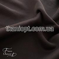 Ткань Дайвинг на флисе (темно коричневый)
