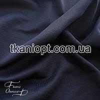 Ткань Дайвинг на флисе (темно-синий)
