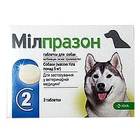 Милпразон 2 таб. для щенков  и маленьких собак   (аналог мильбемакса)