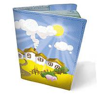 """Кожаная обложка для паспорта """"На селі"""""""