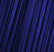 Шторы Нити, кисея, синий (электрик) №208