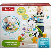 Ходунки толкатель Зебра Fisher-Price Learn with Me Zebra Walker