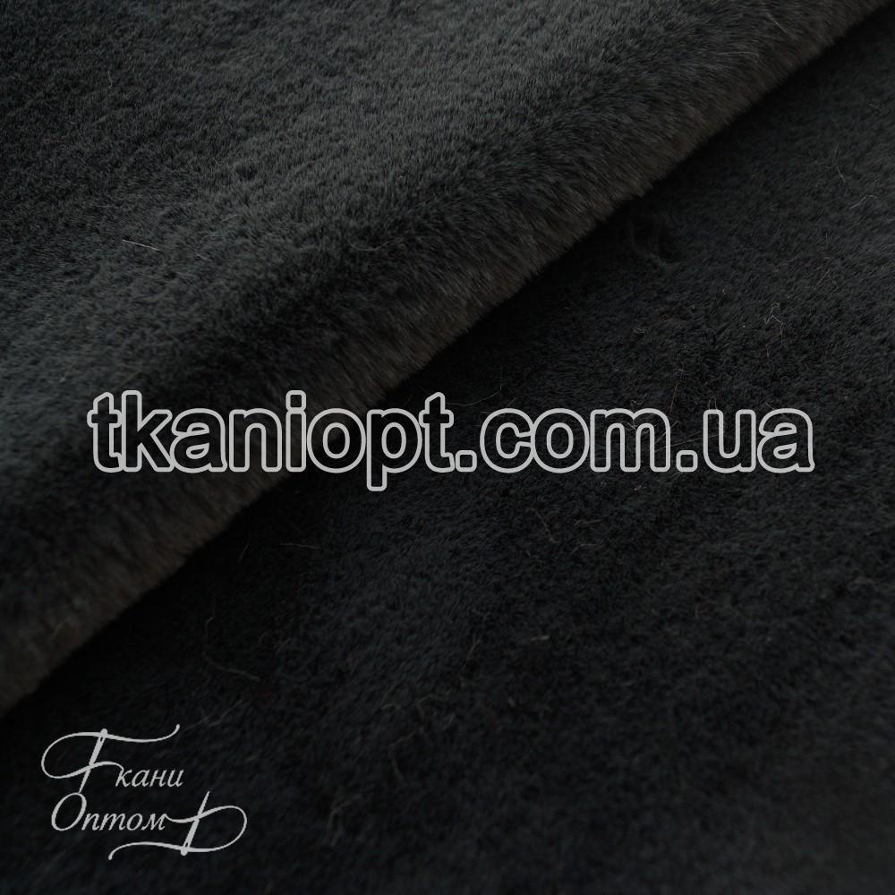 Ткань Мех искусственный кролик (серо-зеленый)