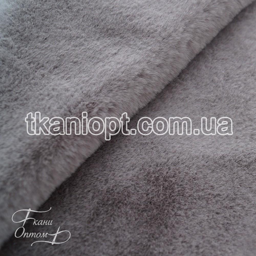 Ткань Мех искусственный кролик (серый)