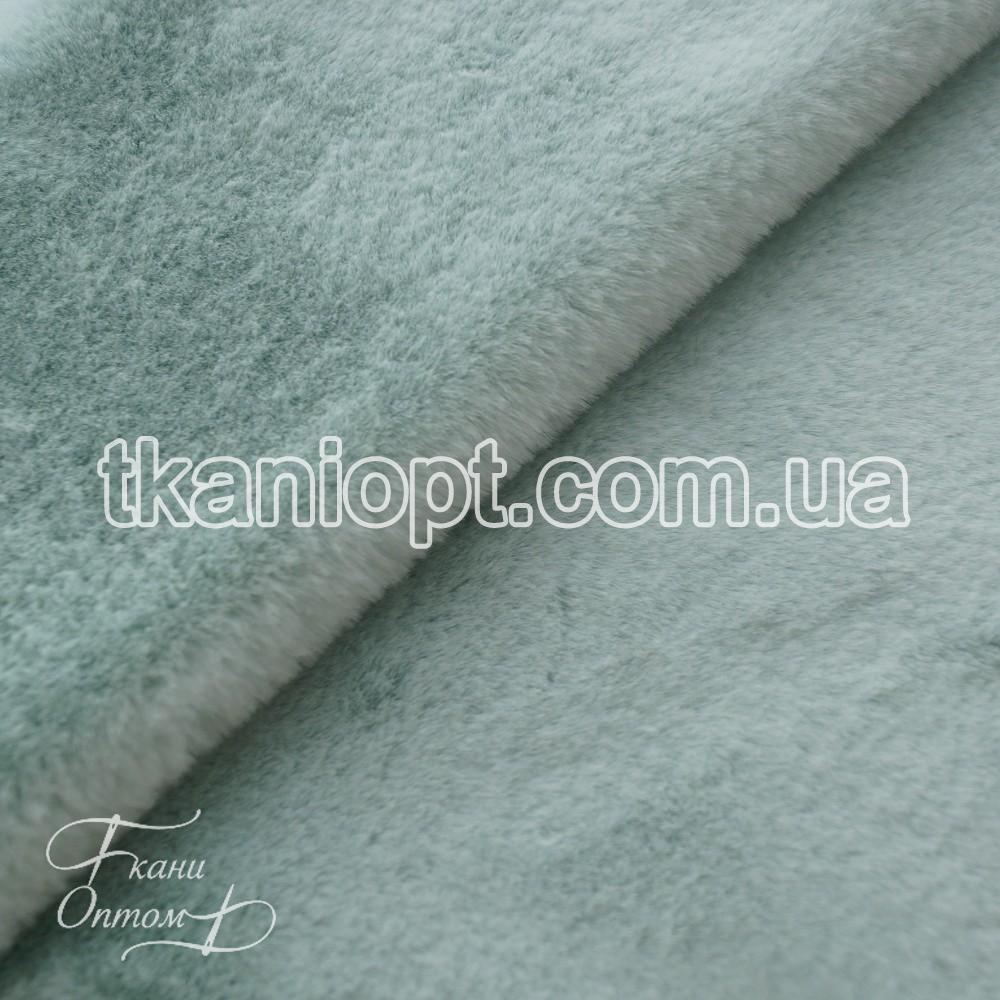 Ткань Мех искусственный кролик (шалфей)