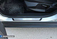 Mitsubishi Lancer X 2008+ гг. Накладки на пороги Flexill (4 шт, нерж) Sport