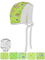 Детская теплая шапочка (Зеленый, случайный рисунок)