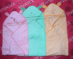 Полотенце детское Капюшон вышивка хлопок