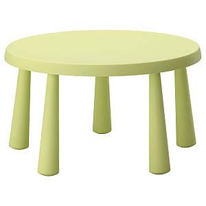 МАММУТ Стол детский, светло-зеленый внутри/снаружи светло-зеленый