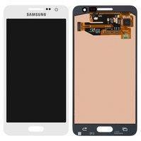 Дисплей для мобильных телефонов Samsung A300F Galaxy A3, A300H Galaxy A3; Samsung, белый, с сенсорным экраном, original, #GH97-16747A